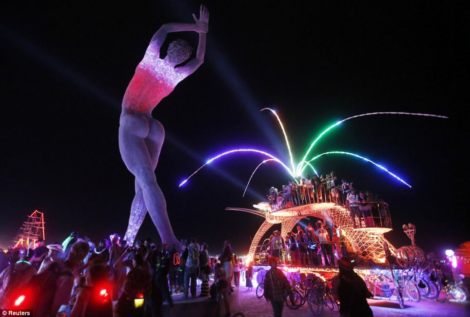 Esfandiari at Burning Man 2013 1